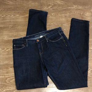 Banana Republic dark Skinny Jeans with stitching